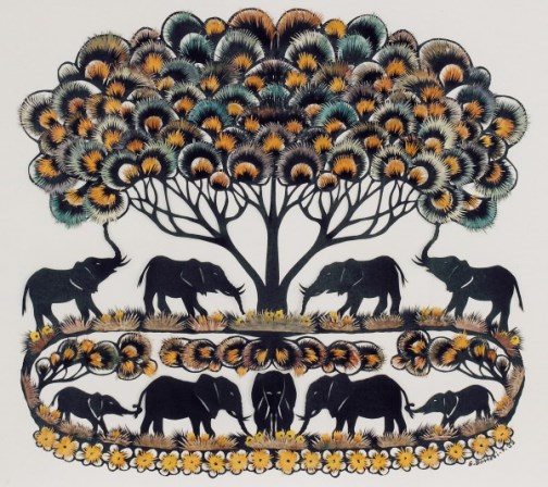 Elephants, paper cut by German artist (from website Atelier77.com)