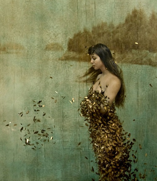 Gold leaf oil painting by Brad Kunkle