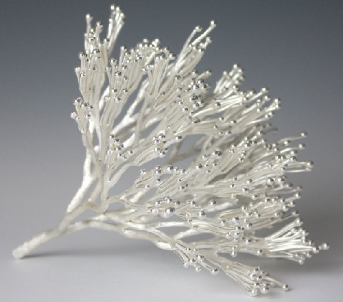 Precious metal sculpture by Japanese artist Junko Mori