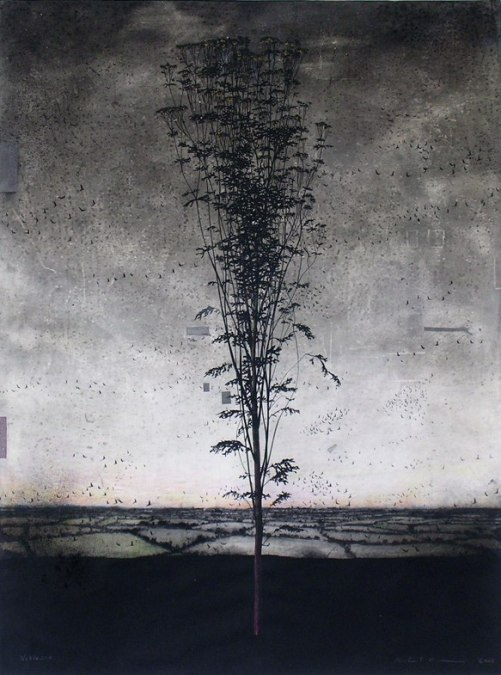 Irish artist Michael Canning, Drawing I, charcoal and mixed media on paper
