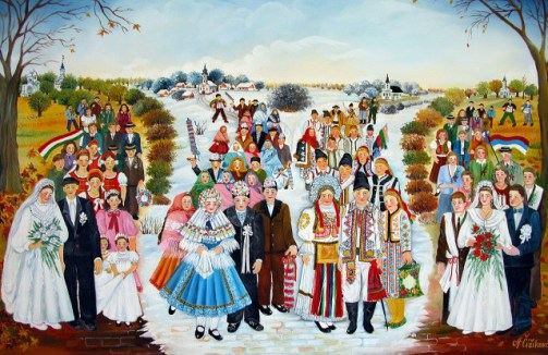 Painting by Aljbeta Chizhikova. Serbian Naive Painting