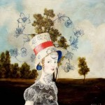 A lady in a hat. Painting by Anne Siems