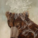Portrait of a bear. Painting by Anne Siems