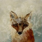 A fox. Painting by Anne Siems