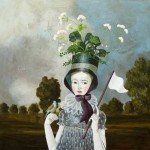 Flower hat. Painting by Anne Siems
