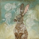 A hare. Painting by Anne Siems