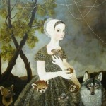 Animal lover. Painting by Anne Siems