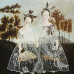 Women in transparent dresses. Painting by Anne Siems