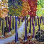 In the wood. Painting by Dushanka Petrovich