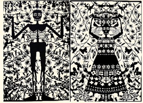 Papel picado work by Mexican self-taught artist Margarita Fick