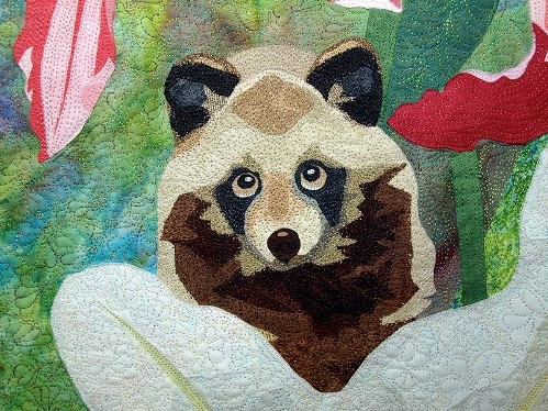Quilt by Japanese artist of applied art Hiroko Miyama