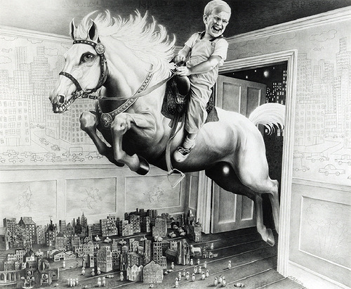 The 4th Horsie of the Apocalypse, 1986. Drawings by Laurie Lipton