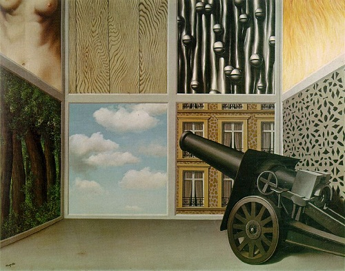 Surreal painting by Belgian artist Rene Magritte