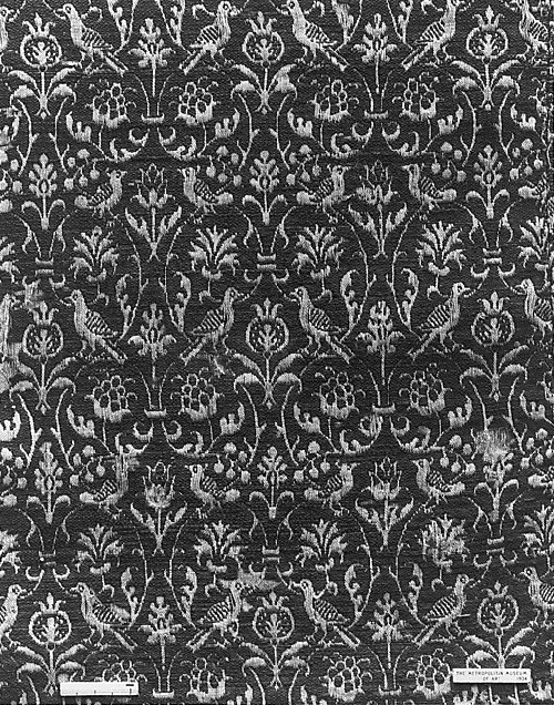 16th century. Wool and linen, double cloth. William Morris Textiles and Wallpaper