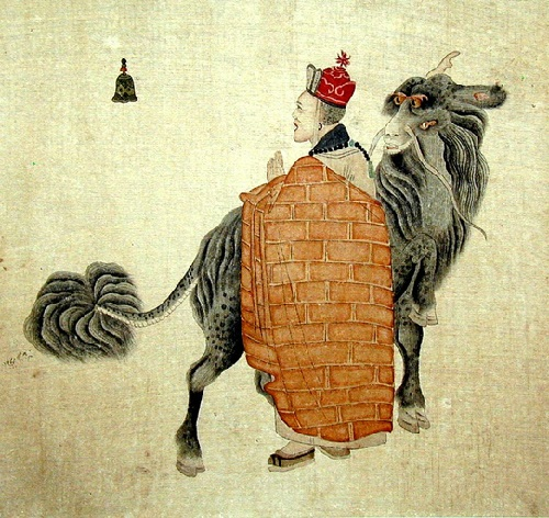 19th century painting by Chinese artist Yehang Lianxi