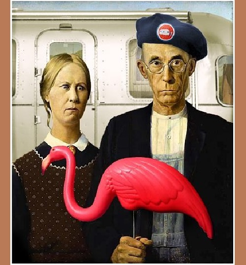 American Gothic - an inspiration and target for parodies
