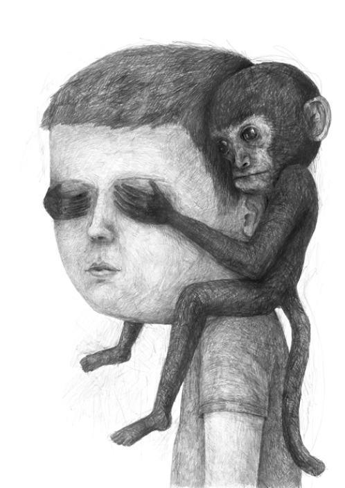 Ape. Pencil on paper