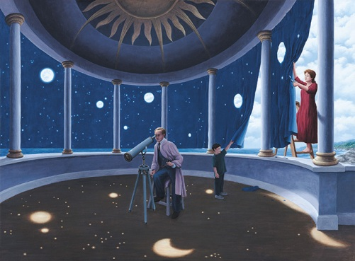 Astral projections. Painting by Canadian artist Rob Gonsalves