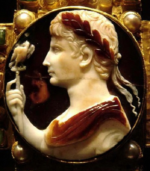 Augstus cameo, Cross of Lothaire (late 10th c., Germany)
