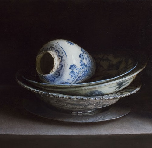 Balance. 2011. Oil on panel. Painting by Uzbek artist Erkin