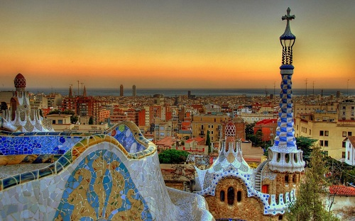Barcelona memory of Antonio Gaudi