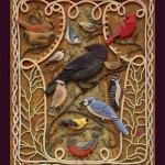 Series Birds of Paradize – Stump embroidery by Salley Mavor, artist of applied art from Massachusetts