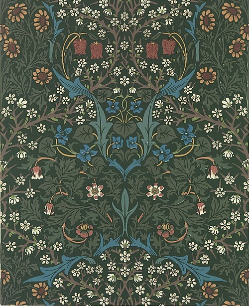 Blackthorn. William Morris. Manufacturer Morris & Company, designed 1892. Medium - Block-printed wallpaper