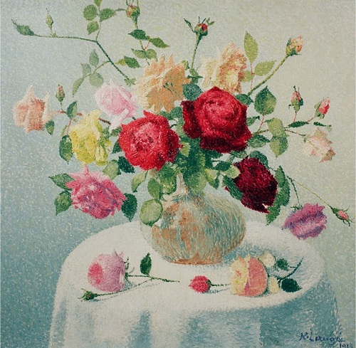 Bouquet de fleurs, 1913. Painting by French artist Achille Lauge