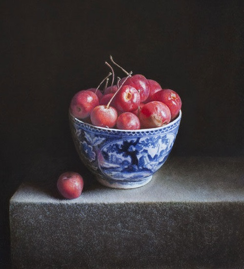 Bowl with apples. 2013. Oil on panel