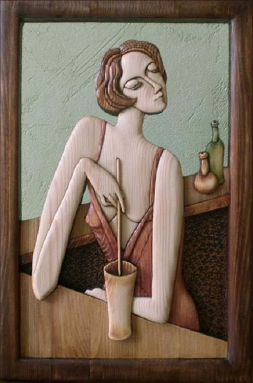 Decorative wood art by Anatoly Obelets