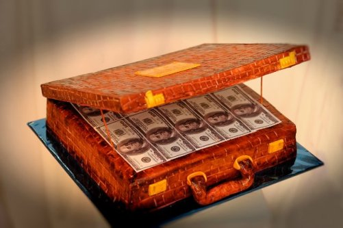 A case of banknotes
