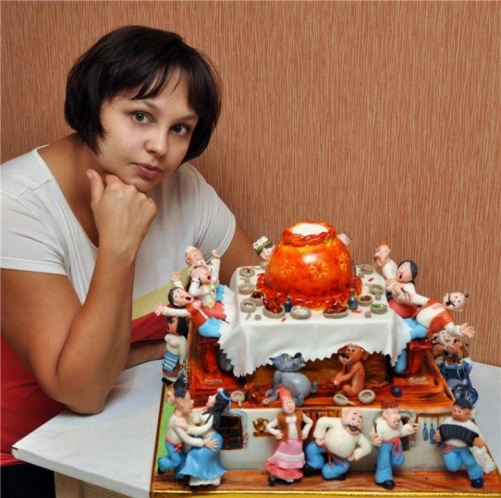 Russian self-taught pastry cake artist Inna Bu