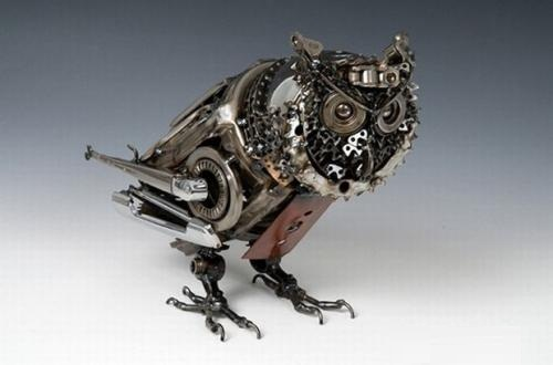 Car parts sculpture made by Australian artist James Corbett