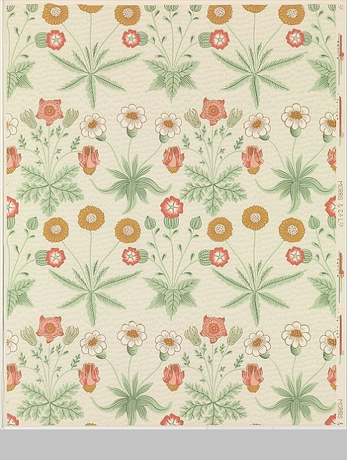 Daisy. Manufacturer Morris & Company, designed 1864. Medium Block-printed wallpaper. The Metropolitan Museum of Art