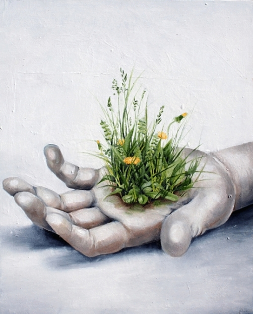 Dandelion. Oil on canvas. 2008