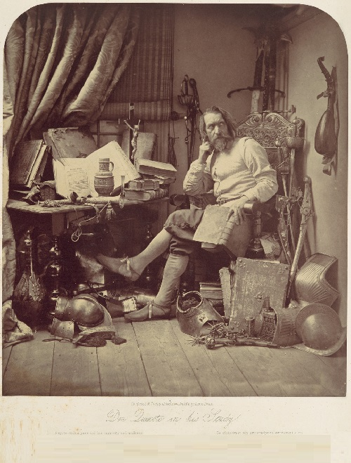 Don Quixote in His Study. William Frederick Lake Price. (British, London 1810–1896 Lee, Kent). 1857