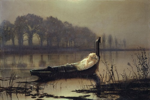 Elaine. Moonlight Painter John Atkinson Grimshaw