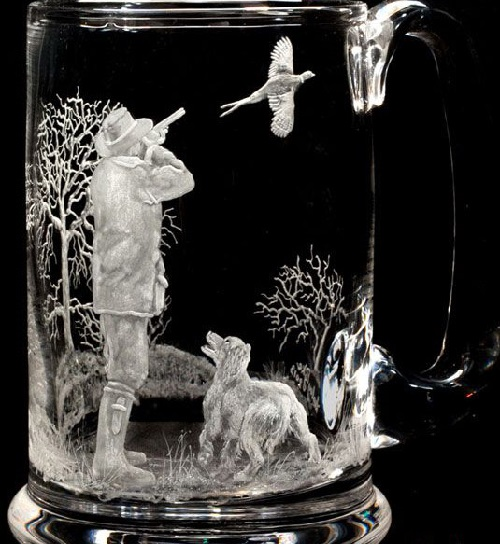 Painting on glass by Lesley Pyke