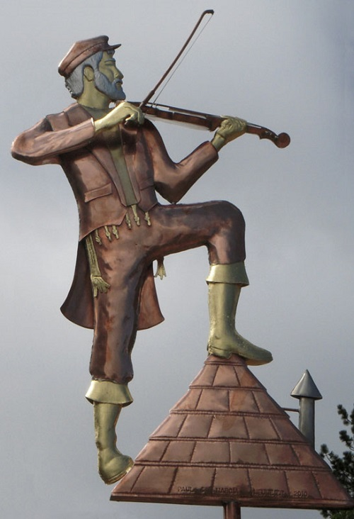 Fiddler on the Roof Weathervane Gold Leafing