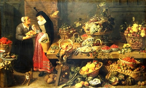 Fruit Shop. Between 1618 - 1621. Flemish painter Frans Snyders (11 November 1579 – 19 August 1657). State Hermitage Museum, Russia
