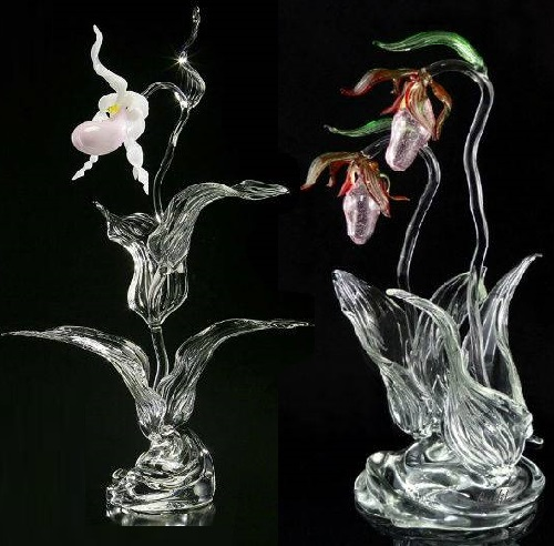 Glass wildflowers by Ronnie Hughes