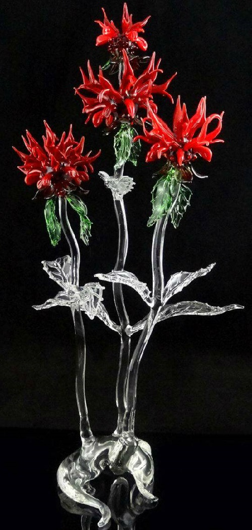 Glass wildflowers by American self-taught artist Ronnie Hughes