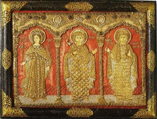Great Martyrs Catherine, Anna and Paraskeva. Icon. Moscow. 1731