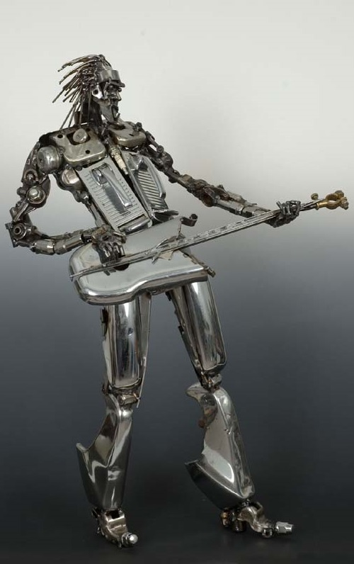 Heavy metal. Metal sculpture by James Corbett