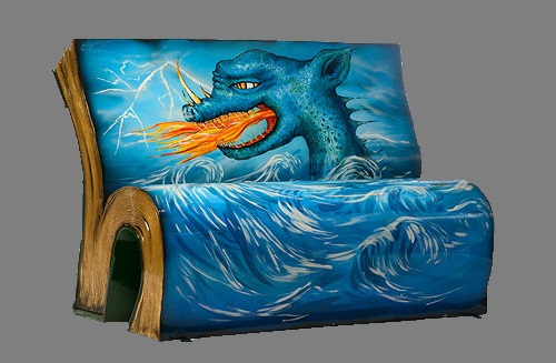 Illustrated BookBenches project