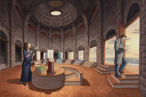 In the space between words. Canadian painter of magic realism Rob Gonsalves