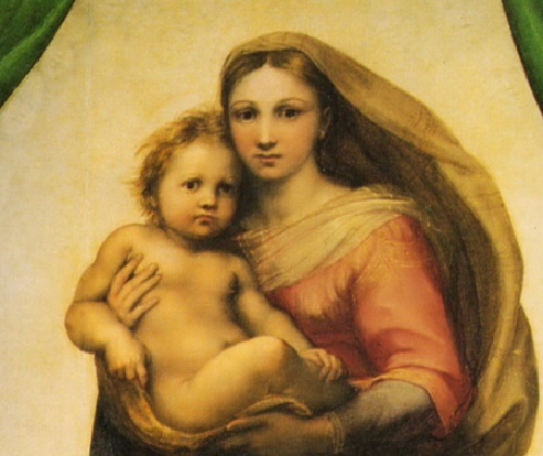Symbols encrypted in Sistine Madonna