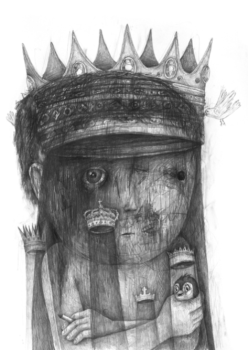 King. Pencil on paper. 2013