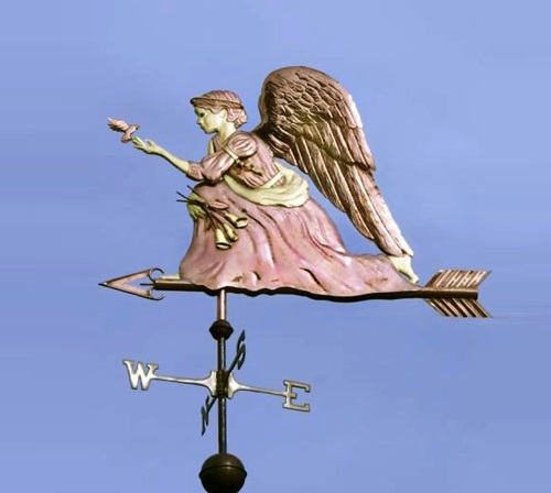 Kneeling Angel Weather Vane