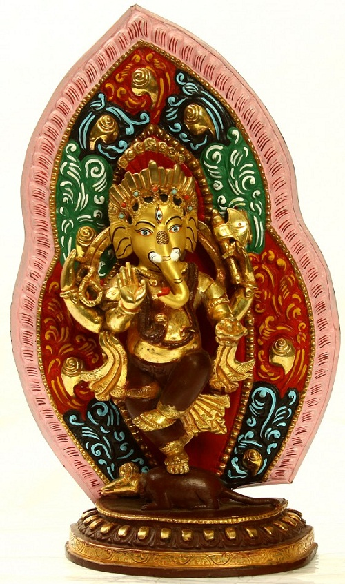 Lord Ganesha Dancing on Rat